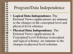 program data independence