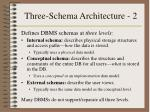 three schema architecture 2