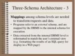 three schema architecture 3