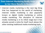 does internet marketing really helps you to get more results to business