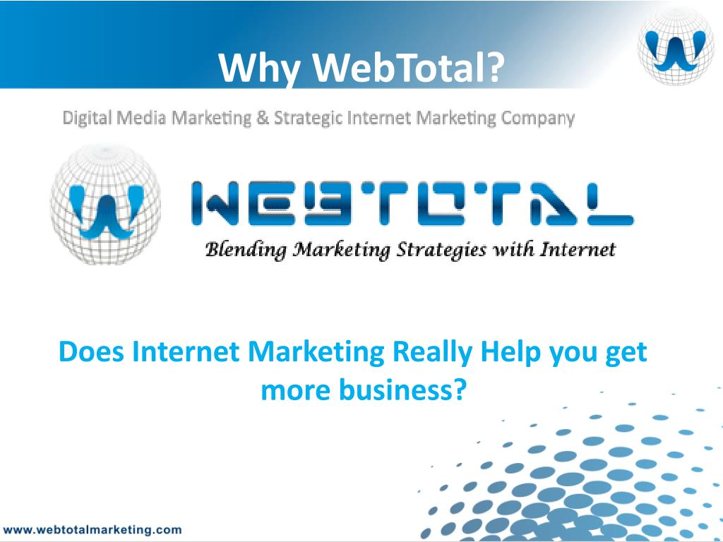 Why WebTotal?