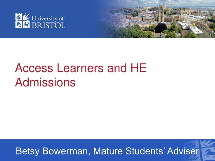 access learners and he admissions n.