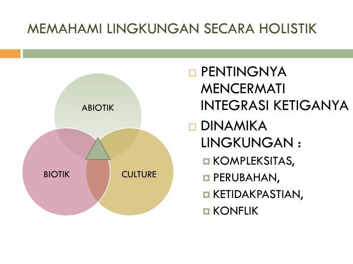 Memahami lingkungan secara holistik