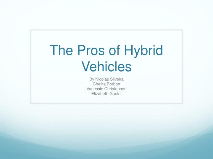 a brief history of the hybrid The history of hybrid cars is more detailed than you might think learn more about the history of hybrid cars at howstuffworks.