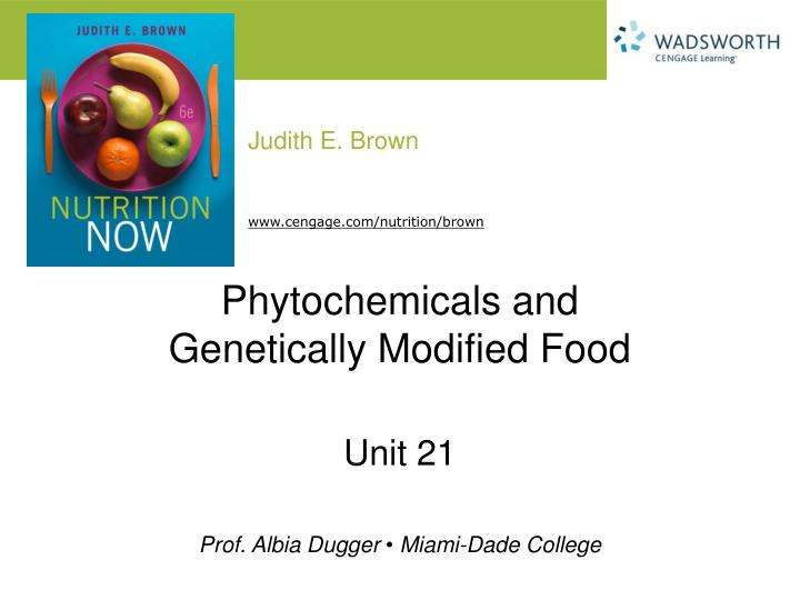 phytochemicals and genetically modified food n.