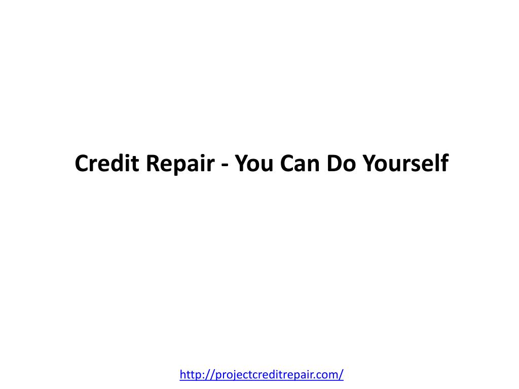 credit repair you can do yourself l.