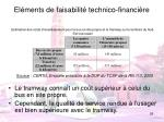 el ments de faisabilit technico financi re