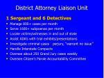 district attorney liaison unit