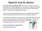 about dr arya m sharma