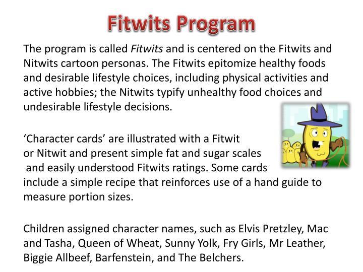 Fitwits program