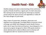 health food kids