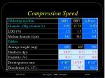 compression speed
