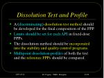 dissolution test and profile