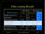 film coating results