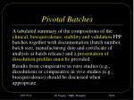 pivotal batches