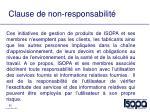 clause de non responsabilit
