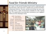 food for friends ministry