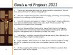 goals and projects 2011