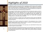 highlights of 2010