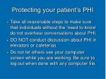 protecting your patient s phi