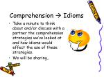 comprehension idioms