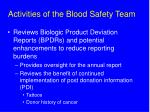 activities of the blood safety team2