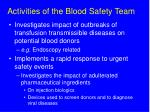 activities of the blood safety team4