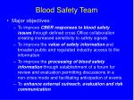 blood safety team