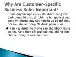 why are customer specific business rules important1