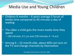media use and young children
