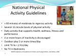 national physical activity guidelines