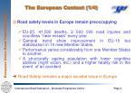 the european context 1 4