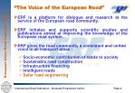 the voice of the european road