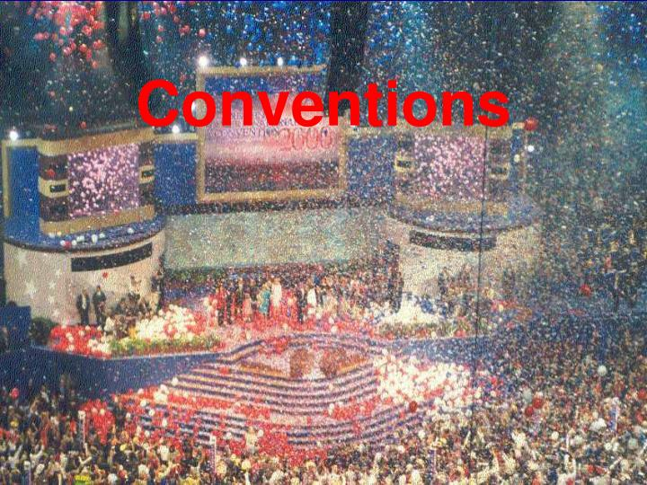 conventions n.
