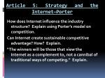 article 5 strategy and the internet porter