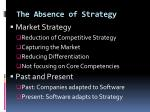 the absence of strategy