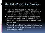 the end of the new economy