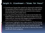 dwight d eisenhower atoms for peace2