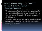 martin luther king i have a dream john f kennedy inaugural address