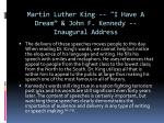 martin luther king i have a dream john f kennedy inaugural address1