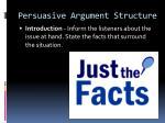 persuasive argument structure1