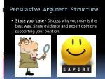 persuasive argument structure2