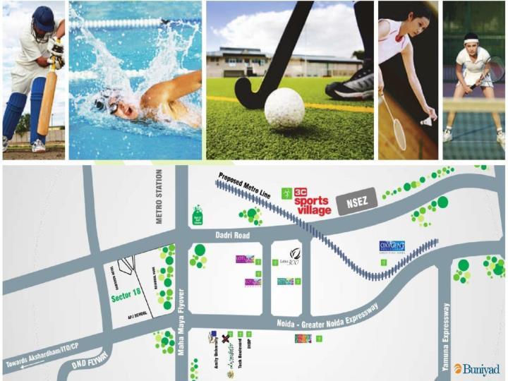3c sports village noida call us 9999987263