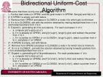 bidirectional uniform cost algorithm