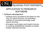 application to research software