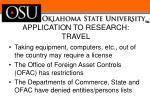 application to research travel