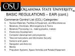 basic regulations ear cont