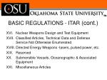 basic regulations itar cont2