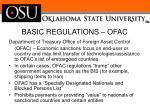 basic regulations ofac