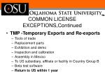 common license exceptions continued1